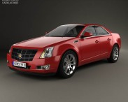 3D model of Cadillac CTS 2008