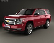 3D model of Chevrolet Tahoe 2014