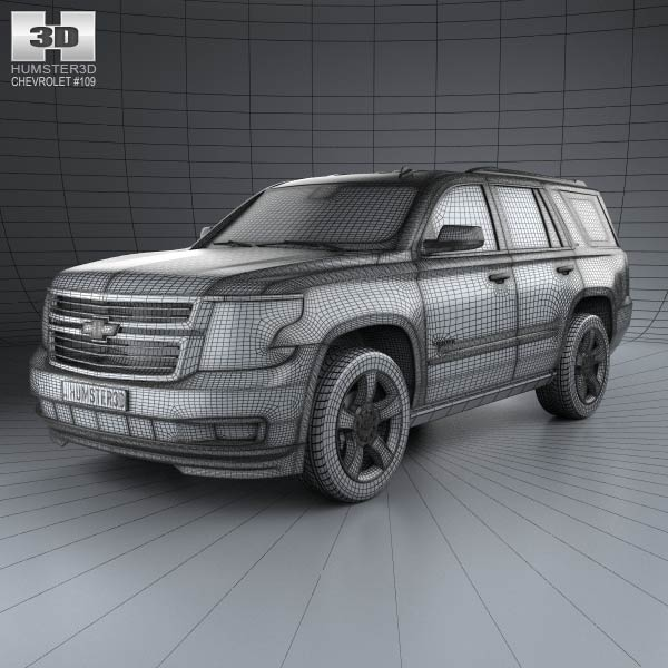 chevrolet tahoe 2014 3d model humster3d. Black Bedroom Furniture Sets. Home Design Ideas