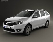 3D model of Dacia Logan MCV 2013