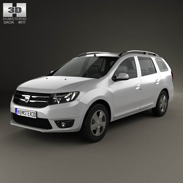 Dacia Logan MCV 2013 3d car model