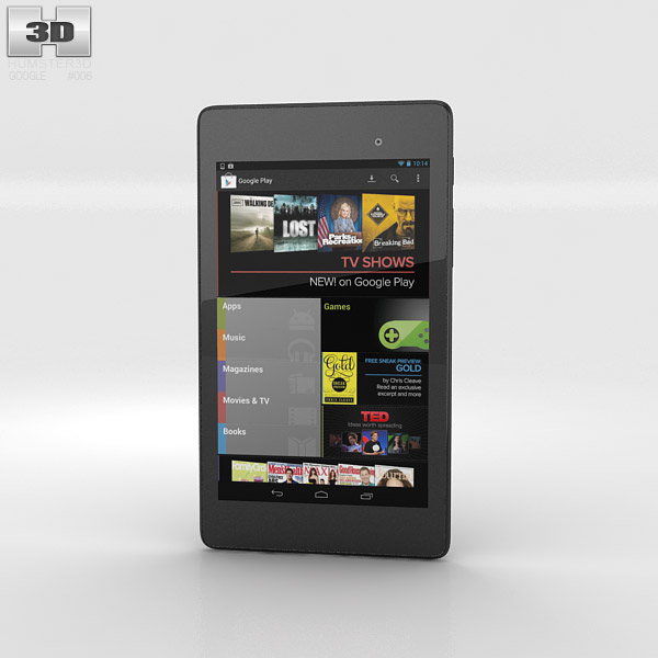 Google Nexus 7 (2013) 3d model