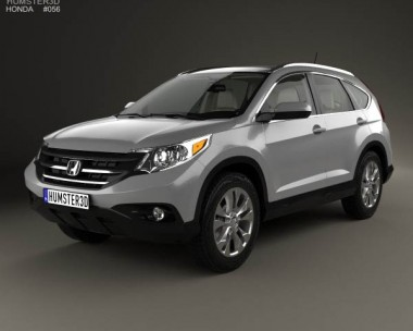 3D model of Honda CR-V US with HQ interior 2012