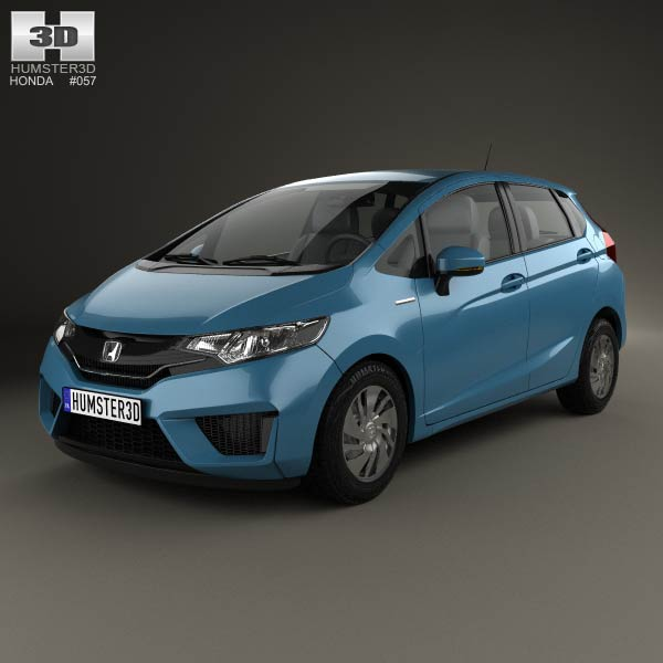 Honda Models in India Honda Fit Jazz 2014 3d Model