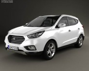 3D model of Hyundai Tucson (ix35) Fuel Cell 2012