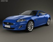 3D model of Jaguar XK coupe 2011