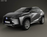 3D model of Lexus LF-NX 2013