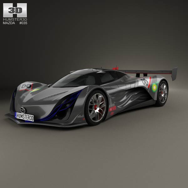 mazda furai 2008 3d model humster3d. Black Bedroom Furniture Sets. Home Design Ideas