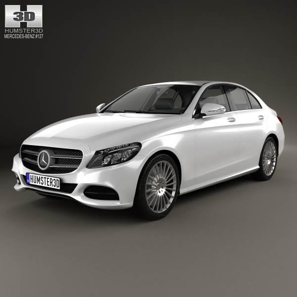 Mercedes benz c class w205 sedan 2014 3d model humster3d for 2014 mercedes benz models