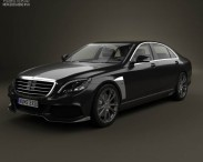 3D model of Mercedes-Benz S-Class (W222) Brabus 2014