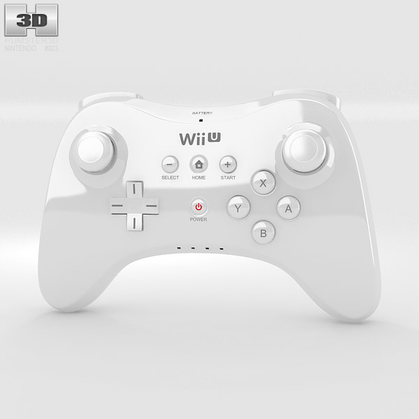 nintendo wii u gamepad pro 3d model humster3d. Black Bedroom Furniture Sets. Home Design Ideas