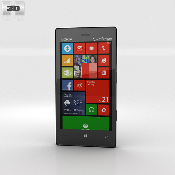 nokia lumia 928 3d model humster3d