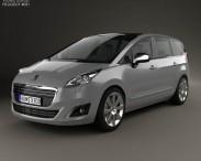 3D model of Peugeot 5008 2014