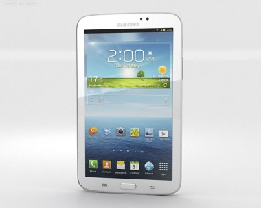 3D model of Samsung Galaxy Tab 3 7-inch White