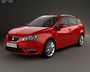 3D model of Seat Ibiza ST 2013