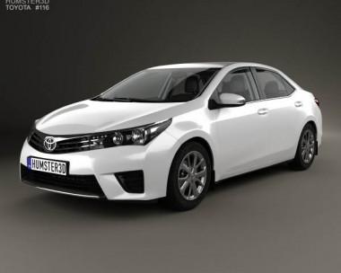 3D model of Toyota Corolla EU with HQ interior 2014