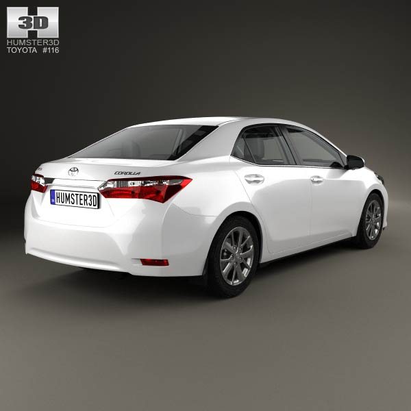 Toyota Corolla EU with HQ interior 2014 3d car model