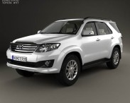 3D model of Toyota Fortuner with HQ interior 2013