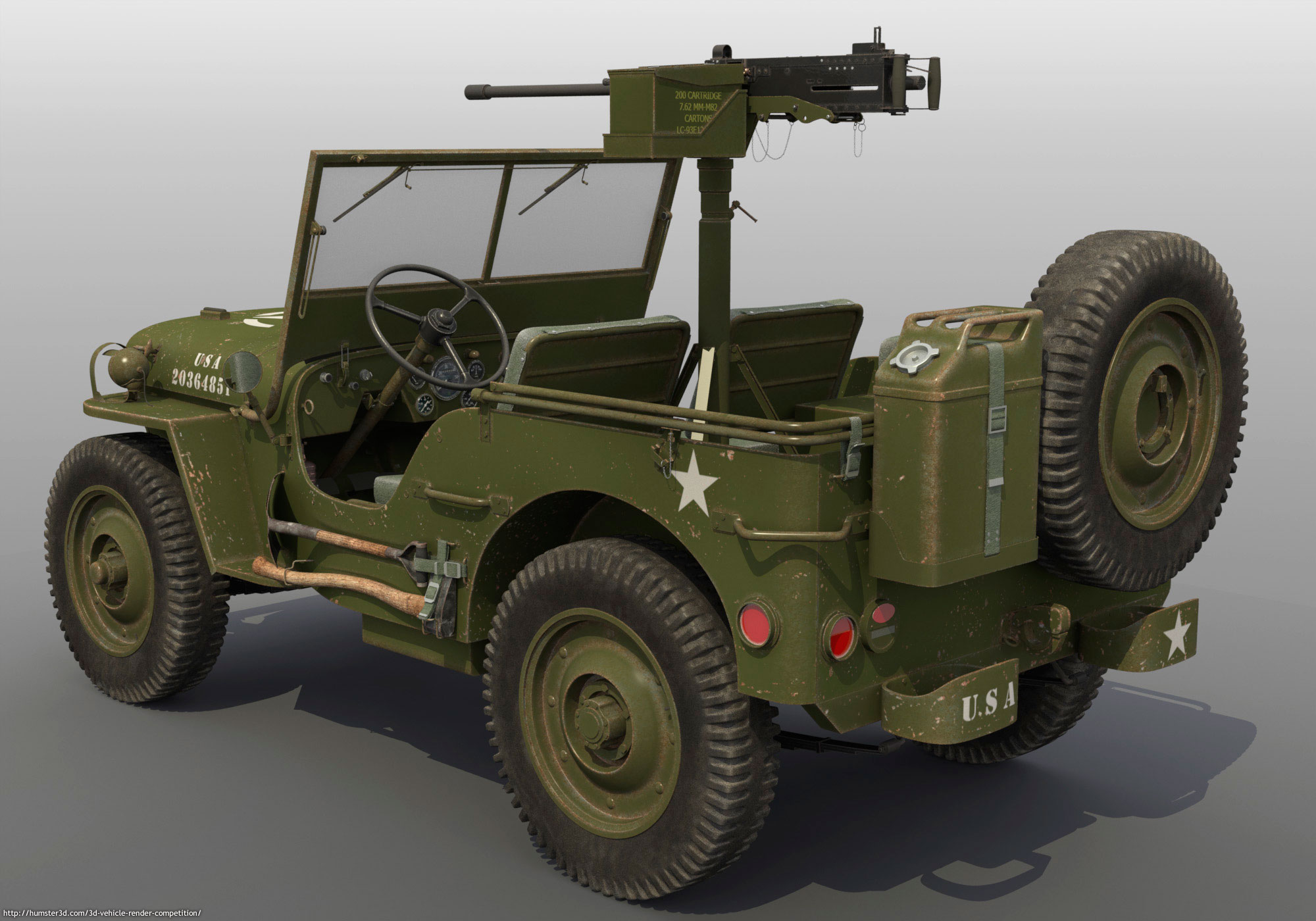 Military Discount Used Cars Willys U.S. Army Jeep - Rod DeWeese - 3D vehicle competition ...