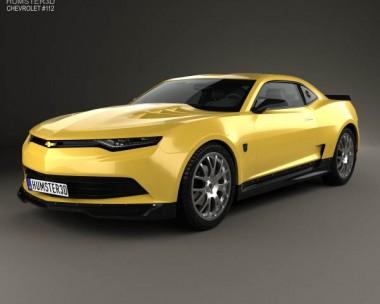 3D model of Chevrolet Camaro Bumblebee 2014