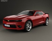 3D model of Chevrolet Camaro SS coupe 2014