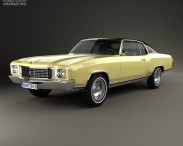 3D model of Chevrolet Monte Carlo 1972