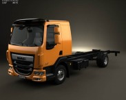 3D model of DAF LF Chassis Truck 2013