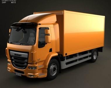 3D model of DAF LF Box Truck 2013