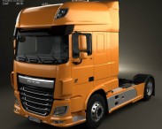 3D model of DAF XF Tractor Truck 2013