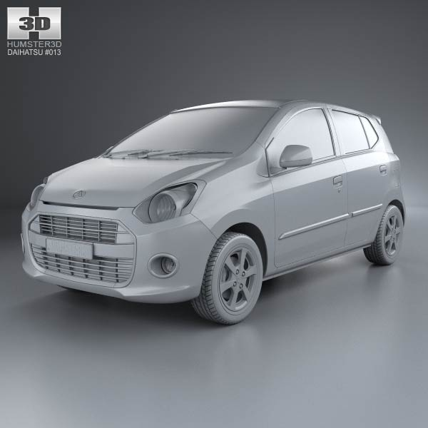 Daihatsu Astra Ayla 2013 3d car model