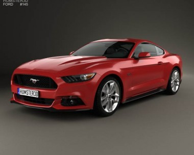 3D model of Ford Mustang GT 2015