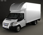 3D model of Ford Transit Luton Tailift Van 2012