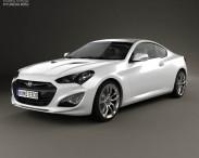 3D model of Hyundai Genesis coupe 2012