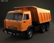 3D model of Kamaz 5511 Dump Truck 1977