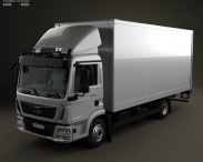 3D model of MAN TGL Box Truck 2012