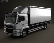 3D model of MAN TGM Box Truck 2012