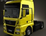 3D model of MAN TGX Tractor Truck 2012