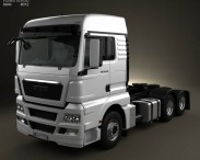 3D model of MAN TGX Tractor Truck 3-axle 2012