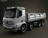 3D model of Mercedes-Benz Arocs Tipper Truck 2013