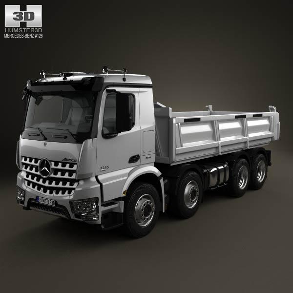 Mercedes benz arocs tipper truck 2013 3d model humster3d for Mercedes benz truck 2013