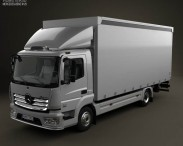 3D model of Mercedes-Benz Atego Box Truck 2013
