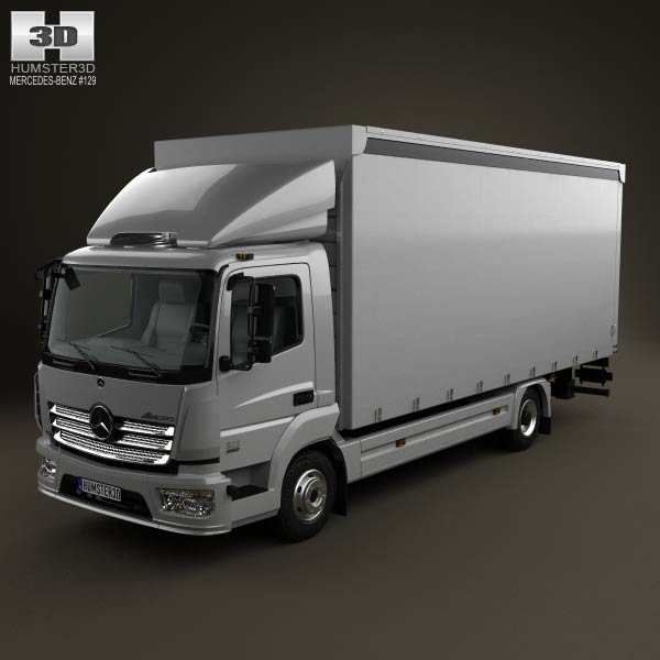 Mercedes-Benz Atego Box Truck 2013 3d car model