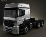 3D model of Mercedes-Benz Axor Tractor Truck 2011