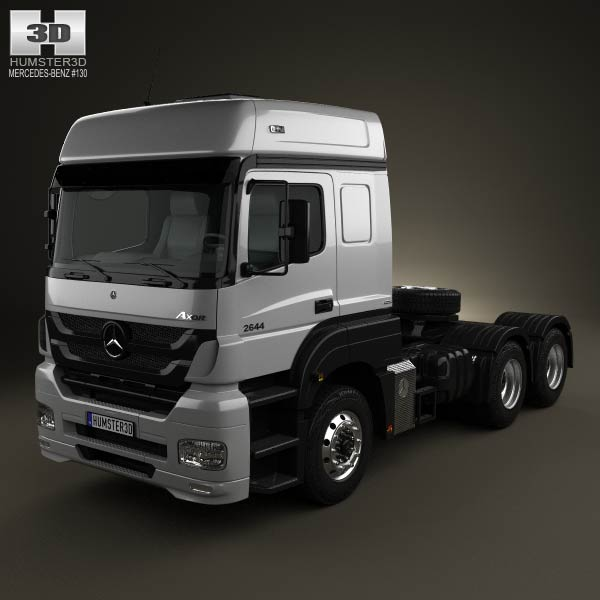mercedes benz axor tractor truck 2011 3d model humster3d