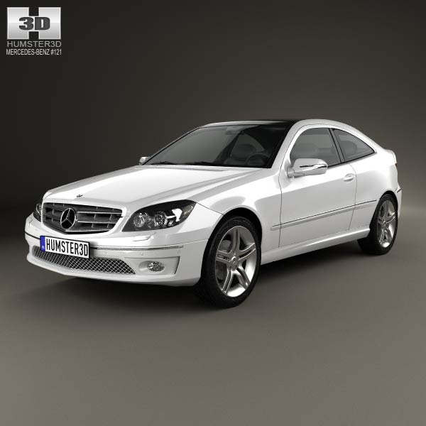 mercedes benz clc class cl203 2008 3d model humster3d
