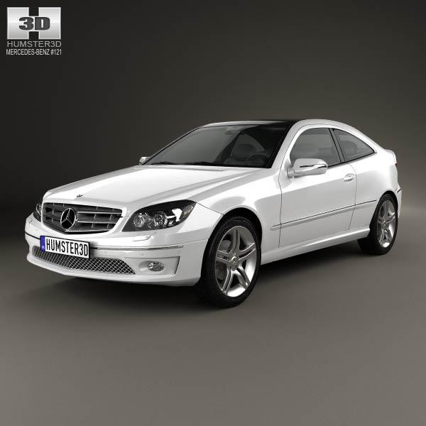 Mercedes benz clc class cl203 2008 3d model humster3d for Mercedes benz usa models