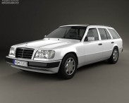 3D model of Mercedes-Benz E-class Wagon 1993