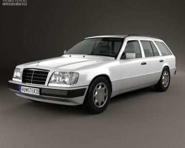3D model of Mercedes-Benz E-class Wagon 1993