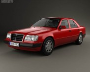 3D model of Mercedes-Benz E-Class sedan 1993