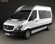 3D model of Mercedes-Benz Sprinter Passenger Van 2013